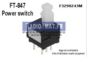 FT-847 power switch – F3290243M